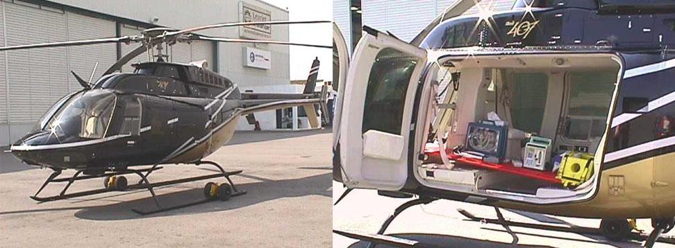 Traslado en ambulancia aerea
